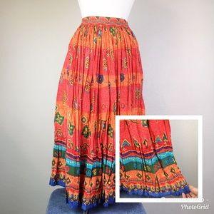 Bedford Fair Broomstick Boho Maxi Skirt
